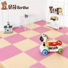 Leaf Texture Solid Color EVA Foam Baby Toy Puzzle Jointed Play Mat Game Exercise Gym Floor