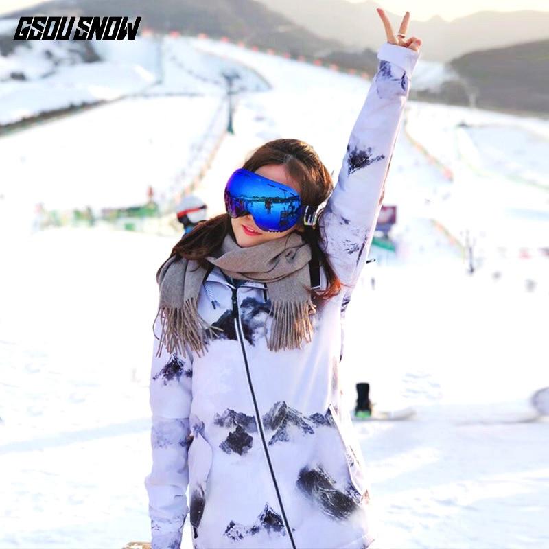 cde6383269 Wintersport 2018 White Ski Suit Female Snowboard Jacket Snow Pants Sport Suit  Women Skiing Clothing Skiwear