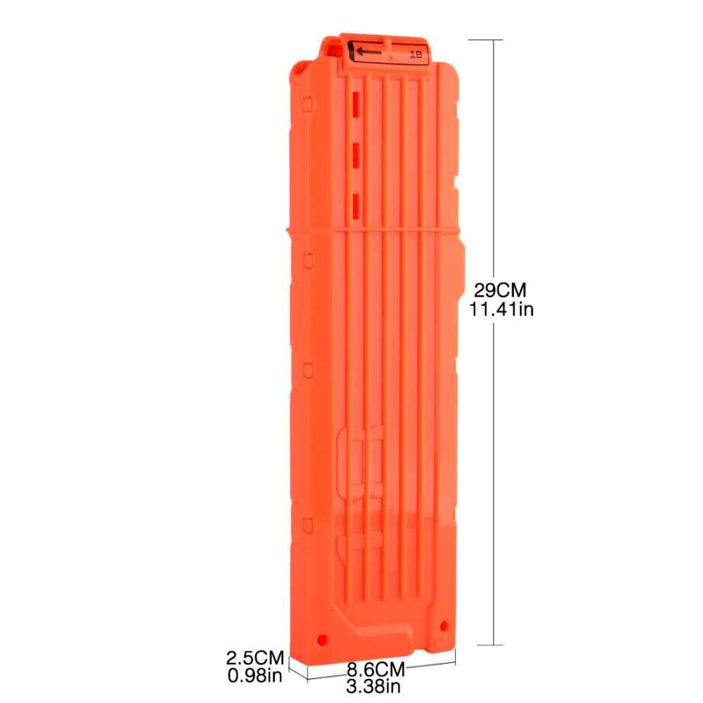18 Reload Clip Tijdschriften Ronde Darts Vervanging Plastic Tijdschriften Speelgoed Pistool Zachte Kogel Clip Voor Nerf N-Strike