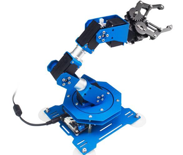 6 degrees of freedom mechanical arm robot arm educational programming robot c langauge children toy