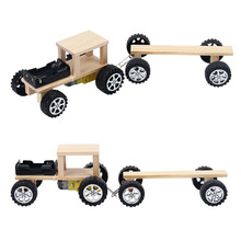 Mini Wood DIY Engine Small Train Manual Assembly Model Kit Gift Physical Science Experiment Teaching Accessory diy manual technology small production creative vacuum cleaner student science experiment manual assembly of toy materials