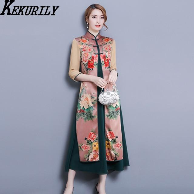 Kekurily Robe Noel Render Party Dress Women 2 Piece Suits Vintage