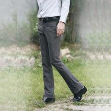 Новый 2017 Мужской тонкий повседневные штаны мужские Брюки мода Slim Fit Брюки, бренд Бизнес Блейзер прямые брюки западного стиля