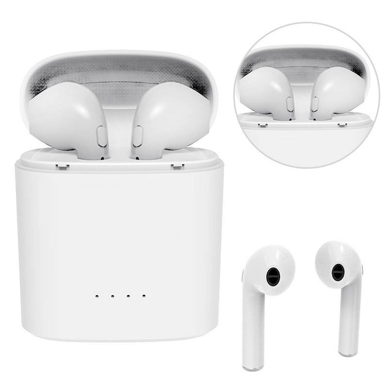 352c2c51fb2 Hot Sell M&J i7s TWS Mini Wireless Bluetooth Earphone Stereo Earbud Headset  With Charging Box Mic For All Smart phone-in Bluetooth Earphones &  Headphones ...