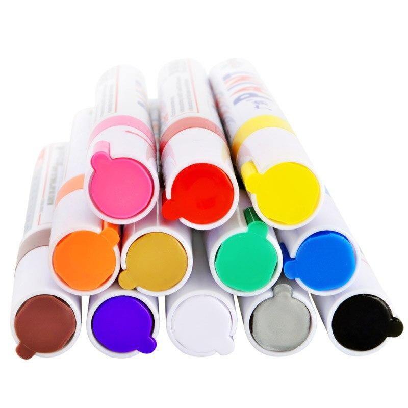 Marqueur de peinture permanent /étanche pour pneus de voiture 12 couleurs rouge
