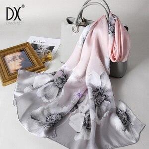 Image 1 - Hijab Women Chiffon Silk Scarves Brand Luxury New Sunscreen Scarf Beach Towel Gradients Wholesale Large Size Face Shield Bandana