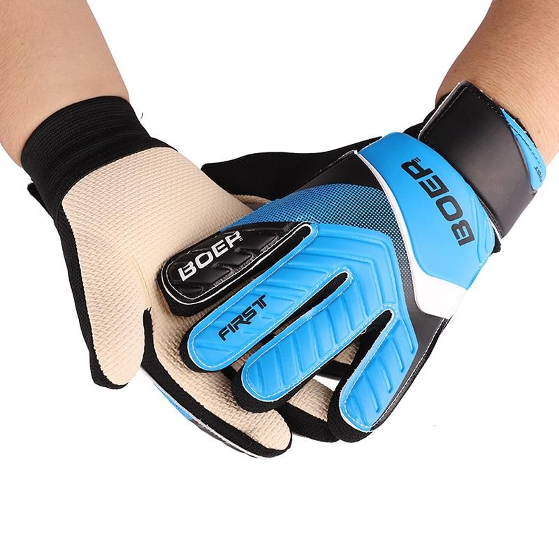 все цены на Children Wearable Goalkeeper Gloves Anti-Slip Glove Soccer Goalkeeper Gloves Professional Football Double Protect