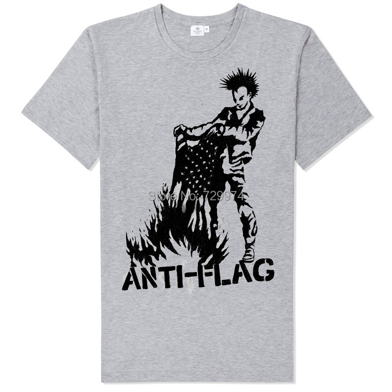 ANTI-FLAG sex pistols ramones burn the flag rock t shirt soft comfortable good quality tee brand new