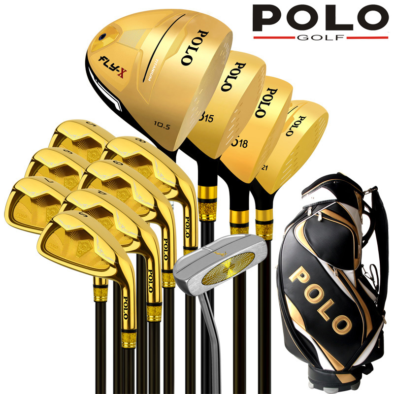 POLO Collections and Professional Gamer Titanium Alloy Rod of Driver Luxury golf clubs complete full set carbon graphite shaft
