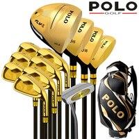 POLO Sammlungen und Professionelle Gamer Titanlegierung Stab der Fahrer Luxus golf clubs komplette vollen satz carbon graphitschaft