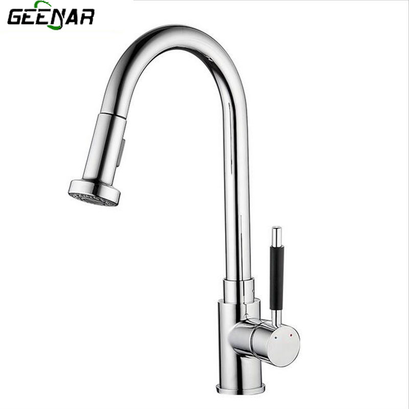 Kitchen Pull Faucet, Multi Function Hot And Cold Faucet