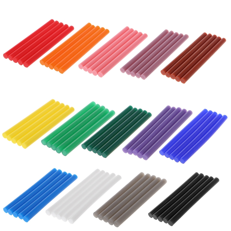 5pcs Hot Melt Glue Stick Colorful 7x100mm Adhesive For DIY Craft Toy Repair Tool