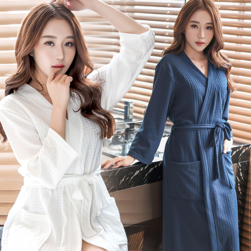 6deea1c18e Detail Feedback Questions about On Sale Women Suck Sweat Elegant Bathrobe  Sexy Summer Kimono Waffle Bath Robe Dressing Gown Bridesmaid Robes for Bride  ...