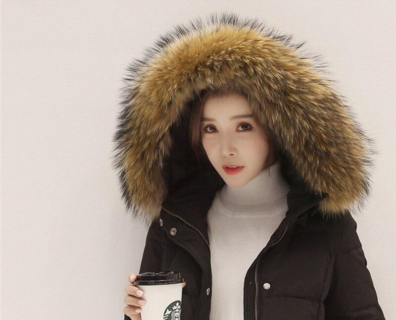 Casacos D'hiver Manteau Chaud Femmes Fourrure De Le Duvet Col grey Manteaux Black Ayunsue Vers Wxf129 Inverno Blanc Slim Épais Canard 2018 Veste Feminino Bas a6fwxqZxO