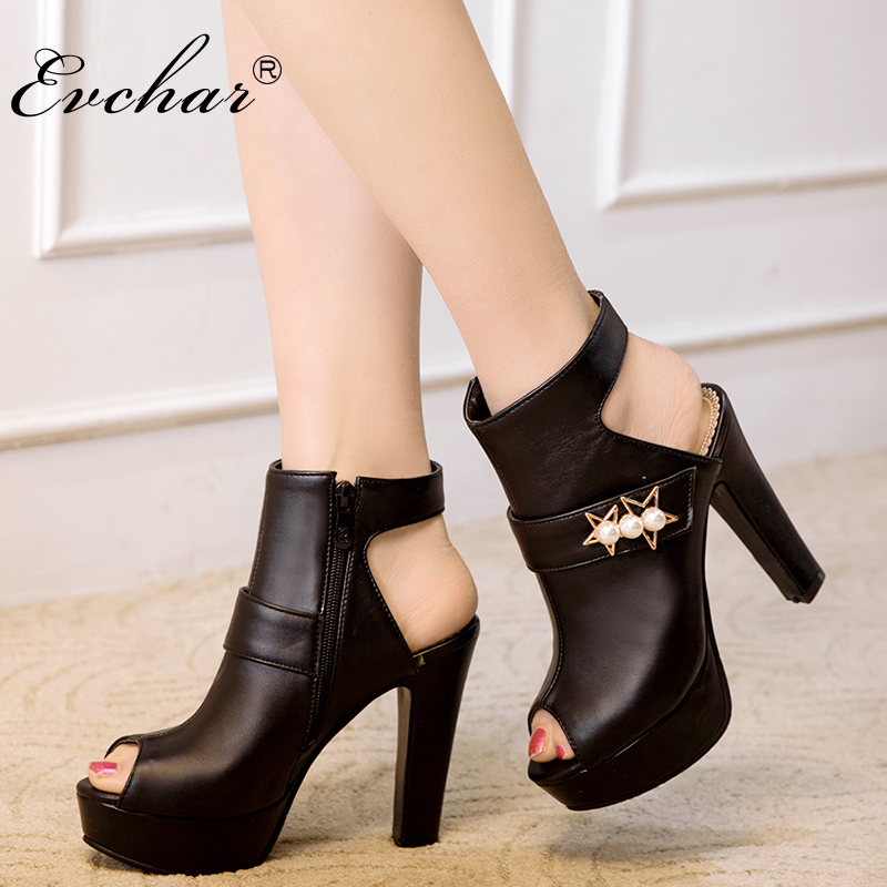 Hot Sale New super High Heels fish mouth Summer Platform Sandals for Women Fashion Buckle spike Heels Shoes Big Size 34-50
