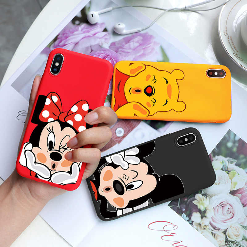 Cartoon Leuke Print Soft TPU Case Voor iPhone 6 S 8 7 6 S Plus 9 Matte Terug Coque Voor iPhone X 11 Pro XS Max XR Phone Case silicone