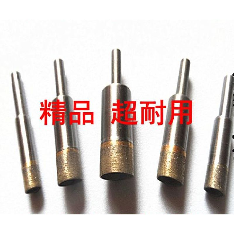 20-25mm 6mm Shank Sintering Diamond Bit Finger Ring Bore Hole Drill Reamer Jade Amber Wax Core-drill Glass Core Drill 50 90mm emerald jade bracelet special diamond drill bit thin walled import sand hole ultra shengliao