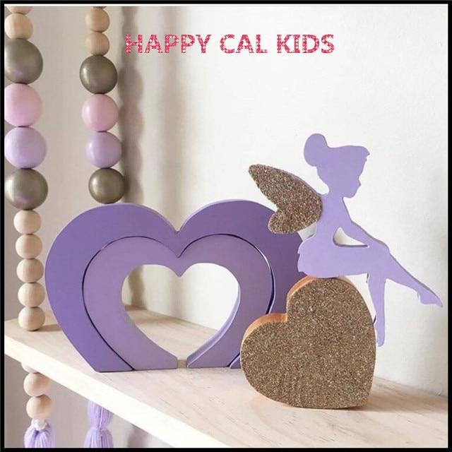 Fesselnd Angel Jungen Und Mädchen Herz Fenster Wohnkultur Kinder Spielzeug Holz Hand  Geschnitzte Geschenke Kinderzimmer Dekoration Handwerk