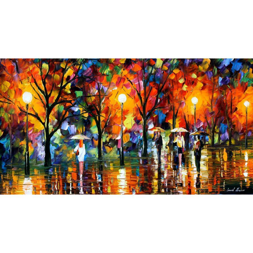 Dipinti di arte moderna in vendita la canzone di pioggia coltello Bella pittura a olio di Paesaggio per soggiorno dipinto A Mano