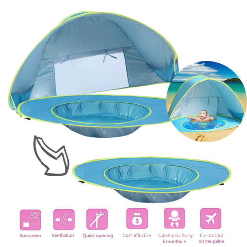 New Solid Portable Baby Kids Beach Tent Canopy UV Sun Shade Shelter for Outdoor Beach Home Indoor Mosquito Net