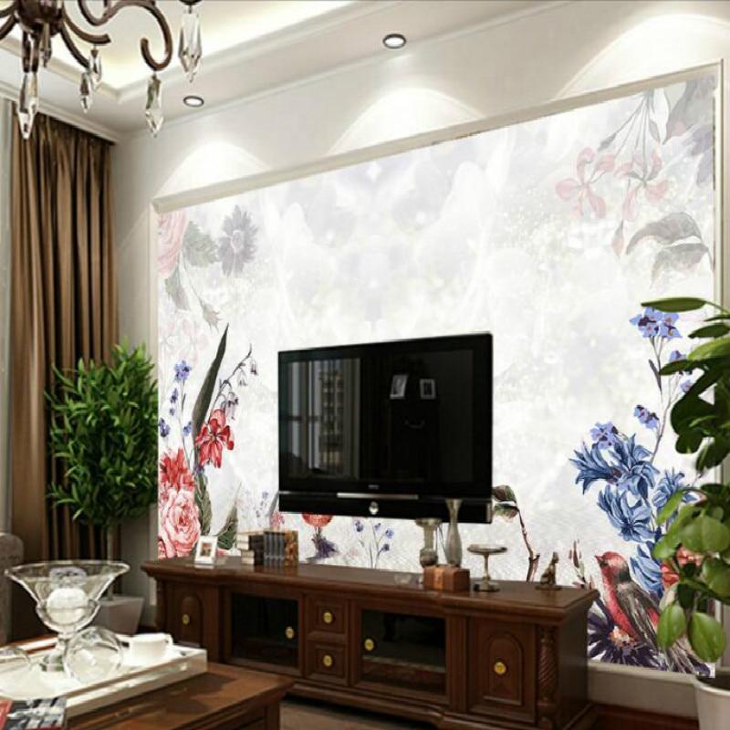 ⑤Acqua di riflessione fiori grande fantasia moda grandi murales ...