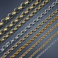 DIY jewelry making materials gold silver Thick chain BL circular chain Open Link Iron Metal Chain Findings 100cm
