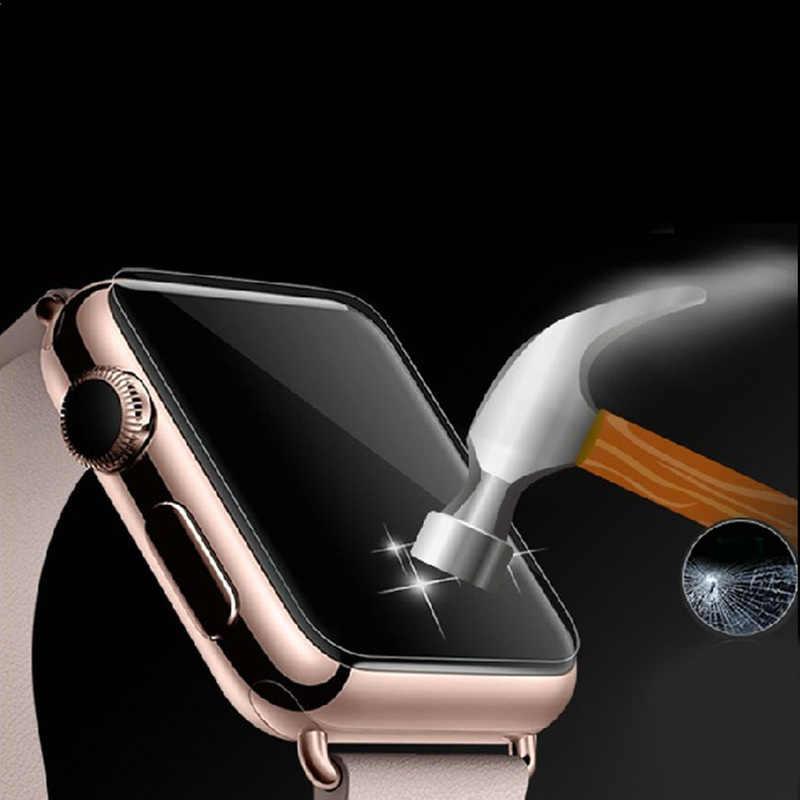 Do zegarka Apple Watch 38mm folia szklana 2.5D premium hartowane szklany ochraniacz ekranu odporny na eksplozje ochrona szkła