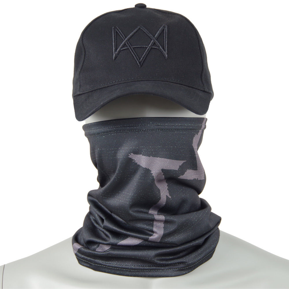 Top Sale Watch Dogs Face MASK +   CAP   Hat Aiden Pearce Costume Cosplay   Baseball     Cap