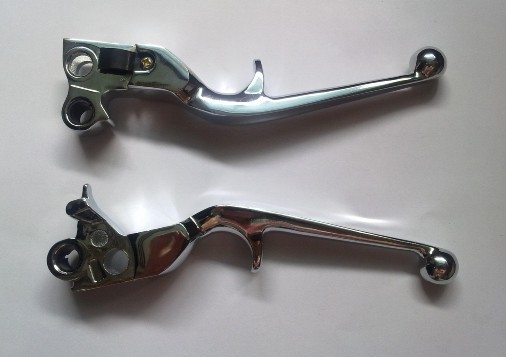 Chrome Hand Clutch Brake Levers For Harley Davidson Heritage Softail Aluminum