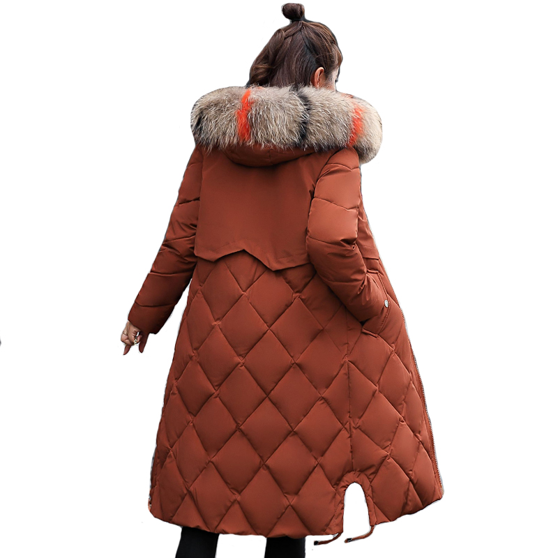 With Big Fur Collar Hooded Winter Jacket Women Long Warm Thicken 2019 High Quality Female Coat Long   Parka     Parkas   Padded Coats