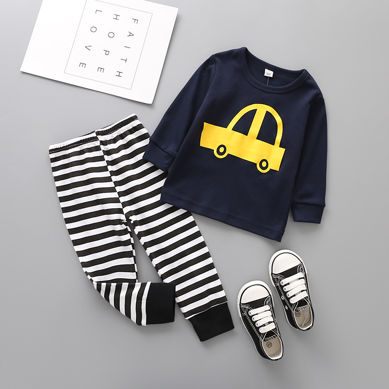 Nightwear clothing sets Children pajamas boy girl set Baby Boy girl Trolley  printing Clothing Infant Nightwear sleepwear cloths-in Clothing Sets from  Mother ... 187d8e3b6