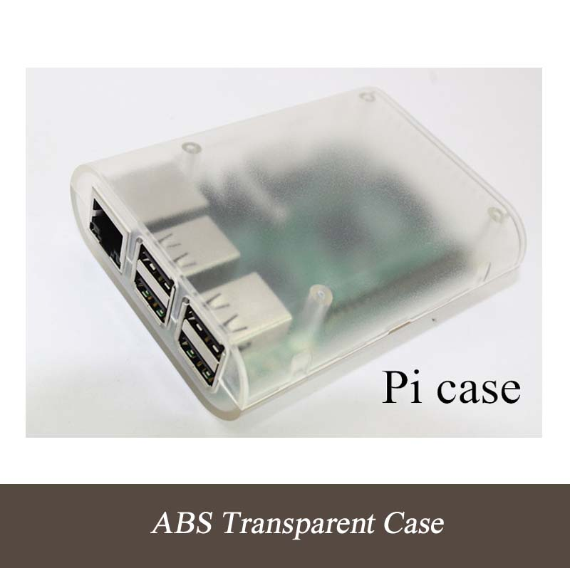 NEW! Raspberry Pi B & Raspberry Pi 2 Case Clear Cover Shell Enclosure Box ABS Box With 3Pcs Heat Sinks (PI Not Included)