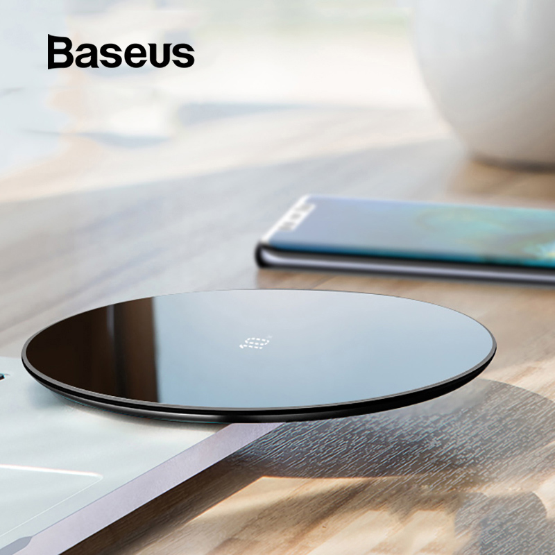 Baseus Thin 10W Wireless Charger Pad For HUAWEI Mate 20Pro Glass Panel with Fast Wireless Charging Function for iPhone Xs Max XRBaseus Thin 10W Wireless Charger Pad For HUAWEI Mate 20Pro Glass Panel with Fast Wireless Charging Function for iPhone Xs Max XR