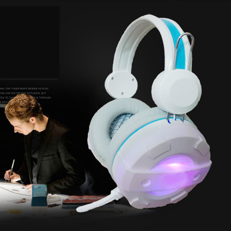 2017 New High Quality Gaming Game Stereo Lighting Headphones Headset Earphone with Mic PC Computer each g8200 gaming headphone 7 1 surround usb vibration game headset headband earphone with mic led light for fone pc gamer ps4