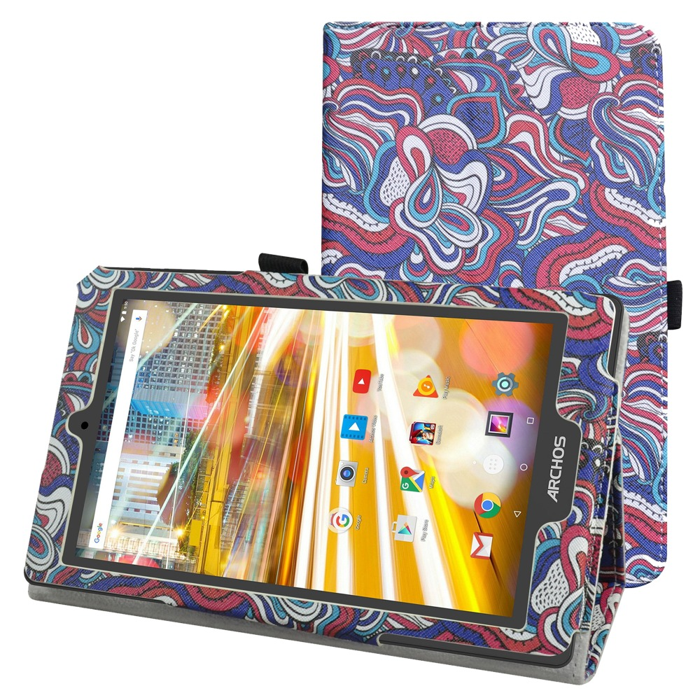 For Archos 80 Oxygen Case , Folio Stand Cover Magnetic Flip PU Leather Shockproof 8 Case for Archos 80 Oxygen