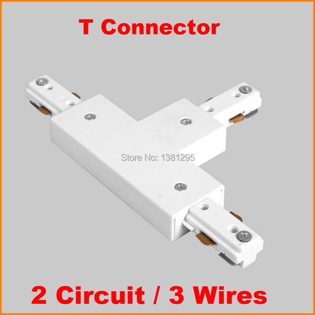 3 Wire 2 Circuit LED Lighting Track Rail T Shape Connector Track Components  T Connector