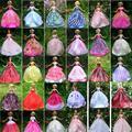 UCanaan 30 itens = Vestido + Shoes + Ganchos Handmade Vestido de Roupas Para Barbie Doll 40 estilos para escolher