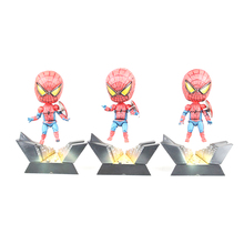 Q Version Spider Man The Amazing Spider-man Spiderman PVC Action Figure Collectible Model Doll Toy For Children Gift 10.5cm цена