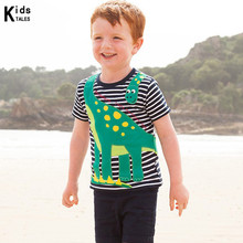 Childrens T-shirts cotton T-shirt with cartoon animal print for girls Boys top Clothing kids