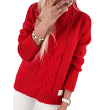 Liva girl Fashion Ladies Full Sleeve Women Knitting Sweater Solid O-Neck Pullover And Jumper