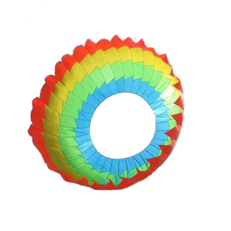 Diamètre 300 cm puissance unique ligne arc-en-ciel anneau de lumière cerf-volant/Ripstop Nylon cerfs-volants avec outils volants cerf-volant de plage