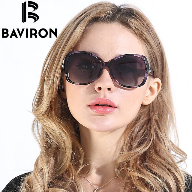 BAVIRON City Eye Tortoise Sunglasses Women Polarized Lenses Glasses Retro Sunglasses Style Gradient Colors Rays UV400 Oculos 6