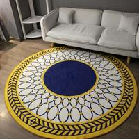 Nordic fashion round carpet Geometric stripe coffee table room bedroom living room Rug garden kids mat computer chair cushion