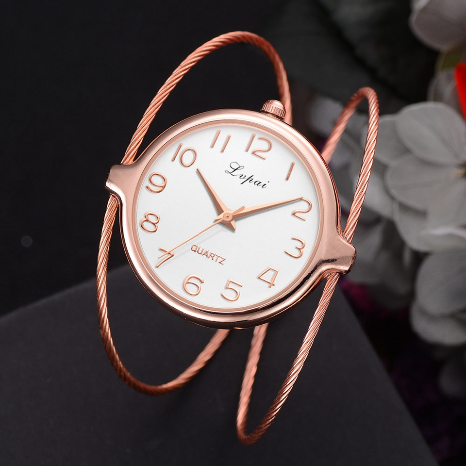 Women Fashion Luxury Watch Bracelet Quartz Dress Watches Rose Gold Small And Exquisite Lvpai Brand Ladies Casual Clock LP353 duoya fashion luxury women gold watches casual bracelet wristwatch fabric rhinestone strap quartz ladies wrist watch clock