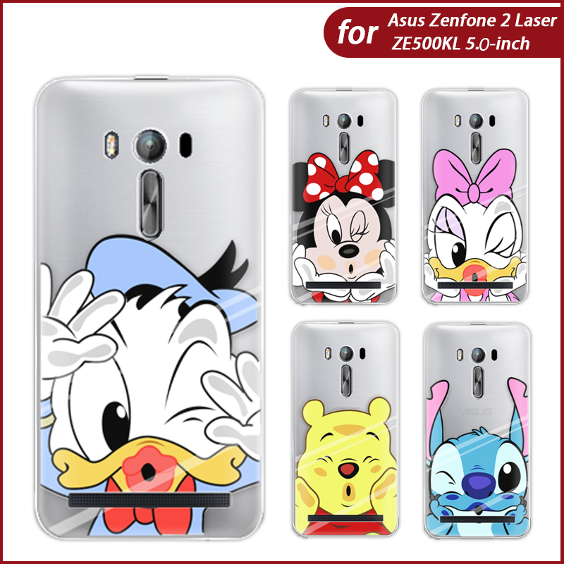 Phone Case For Asus Zenfone 2 Laser ZE500KG/ZE500KL 5-inch Cute Animation Characters High Quality Painted TPU Soft Case