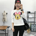 2016 autumn cartoon print Mickey Mouse long sleeve women cotton Sweatshirts women tops casual funny tee shirt Hoodie