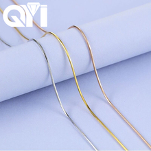 QYI 18K לבן צהוב עלה זהב קישור שרשרת 16/18 סנטימטרים Au750 שרשרת תליון Wendding מסיבת מתנה עבור נשים