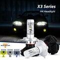 Auxbeam CREE CSP Chips Car H4 Led Head Light Bulbs High Beam & Dipped Beam Led Headlight Kits Fanless Auto Headlight 3000K/6500K