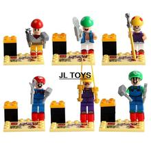 Nintendo Game image Super Mario Brother building block Luigi Wario Kinopio minifigures compatible with legos for kids toys
