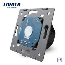 Fabricante, Livolo Estándar de LA UE, 1 Banda de 2 Vías de Control, Luz de la pared del Panel Interruptor de La Pantalla Táctil Sin Cristal, VL-C701S